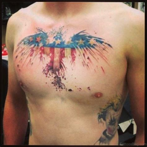american flag chest tattoo 57 classic flag tattoos on chest