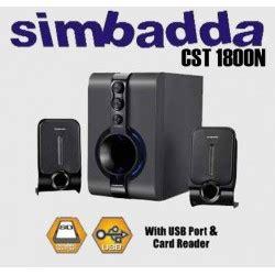 Speaker Simbadda Cst 1800n jual harga cst 1800n with flashdisk sd mmc card