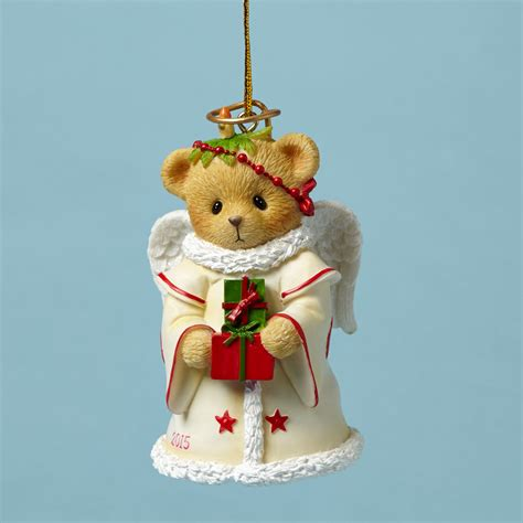 angel bear bell ornament dated 2015 landmcollectibles com