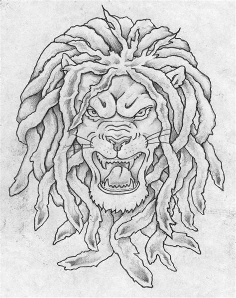 lion with dreads tattoo with dreadlocks www pixshark images