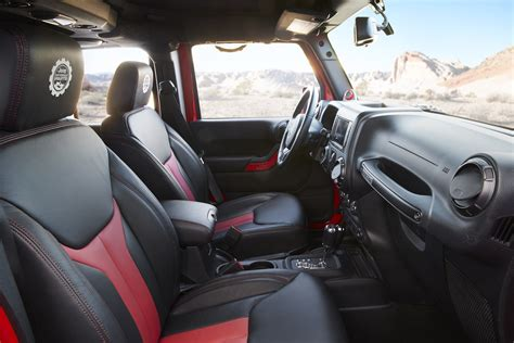 jeep car inside the jeep wrangler red rock responder concept blazes a