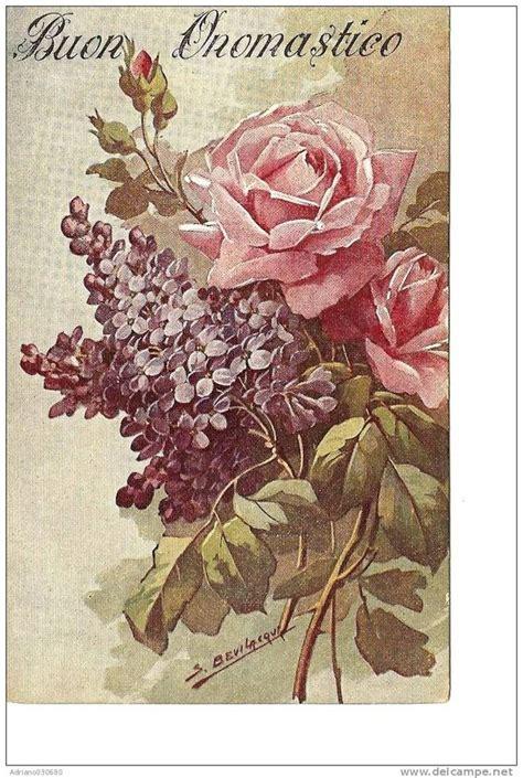 cartoline fiori gratis cartolina antica di auguri buon onomastico con fiori