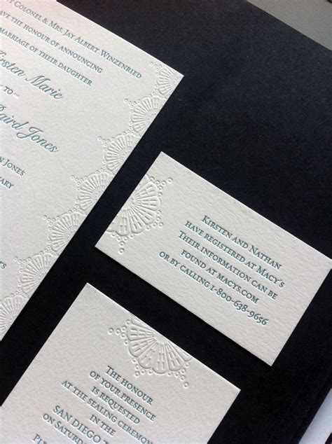 custom wedding invitations riverside ca kirsten nathaniel letterpress wedding invitations