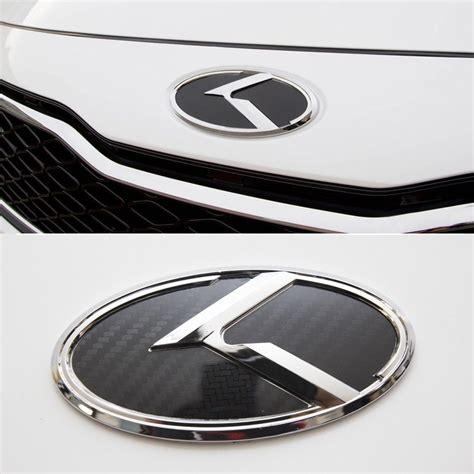 Kia K3 Emblem K Logo Carbon Black Front 3d Emblem 1ea For Kia K3 Cerato