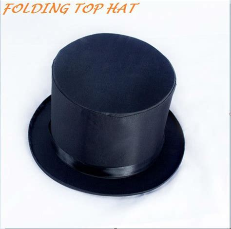 How To Make A Magic Hat Out Of Paper - folding top hat magic trick costume accessory stage prop