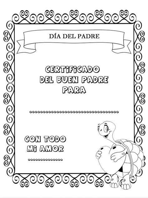 imagenes para colorear el dia del padre dibujos para colorear certificado d 237 a del padre