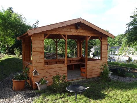 patio shelter garden shelter with benches 10ftx8ft ebay