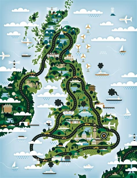 good life magazine map illustrations  khuanktron