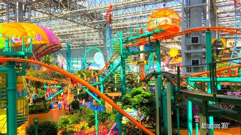 theme parks in us tour of the largest indoor theme park in america mall of
