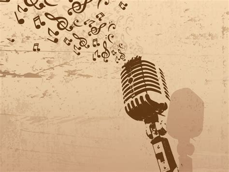 templates for powerpoint music microphone powerpoint templates brown music free ppt
