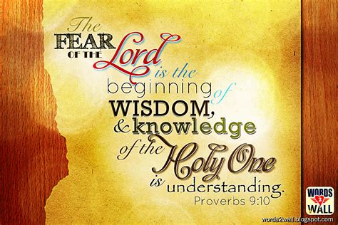 of wisdom the fear of the lord is the beginning of wisdom free bible desktop verse wallpaper