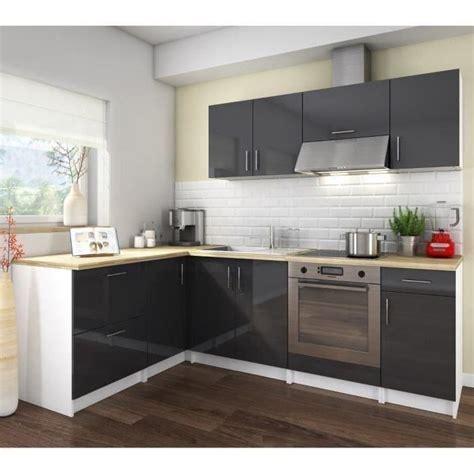 cuisine grise laqu馥 cosy cuisine compl 232 te 2m80 laqu 233 gris achat vente