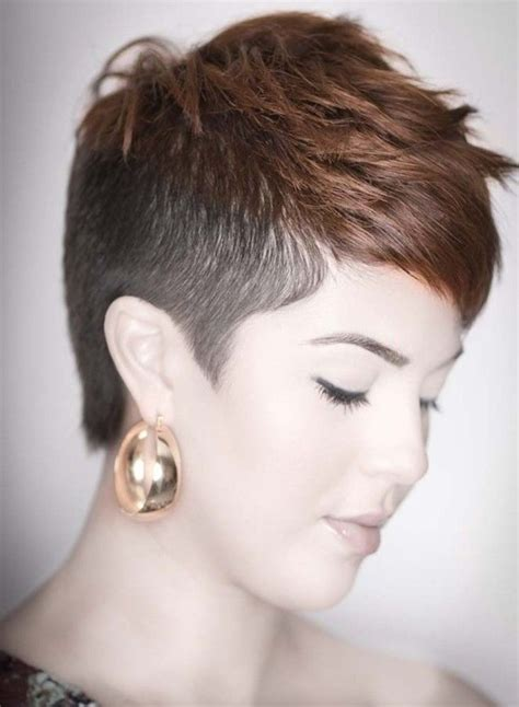 how to cut female hair with short sides and long top short hairstyles short haircuts shaved side short shaved