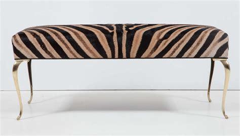 zebra bench ottoman zebra bench or ottoman at 1stdibs