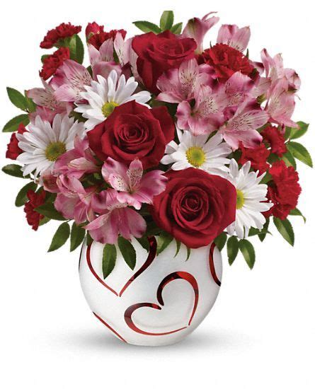 bouquet of flowers for valentines teleflora s happy hearts bouquet s day 2014