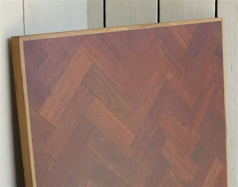 Reclaimed Hardwood Parquet Kitchen Table Top