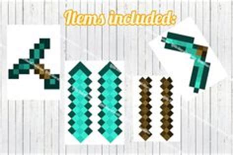 Origami Minecraft Sword - minecraft gold pickaxe birthday