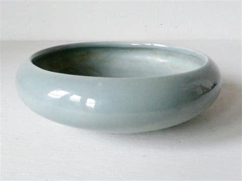 Shallow Ceramic Planter by Seafoam Mid Century Modern Shallow Ceramic Planter