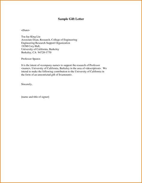 format gift gift letter sle template resume builder