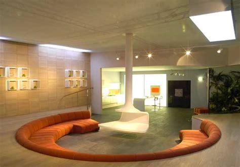 camini artificiali divano circolare ispirazione design casa