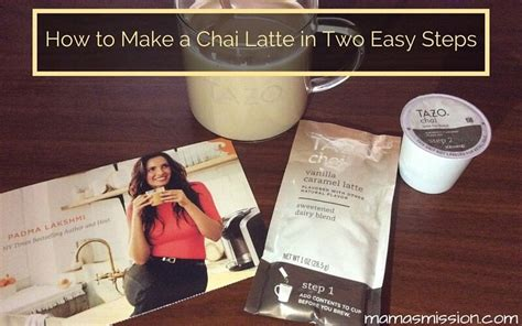 how to make a chai latte in two easy steps
