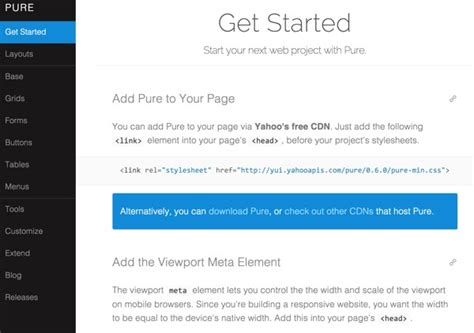 yahoo pure layout pure css offers an intriguing alternative to bootstrap