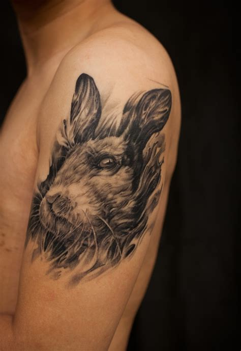 black rabbit tattoo western realism black and grey archives chronic ink
