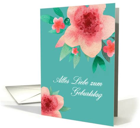 Happy Birthday Wishes In Bulgarian Happy Birthday In German Bright Flowers Card 1378262