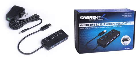 Usb Hub 4 Port By Will Power sabrent 4 port usb 3 0 hub 5v 2 5a power adapter hb ump3