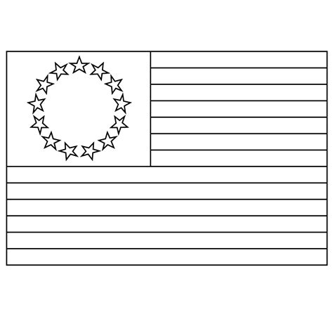 free stars of american flags coloring pages