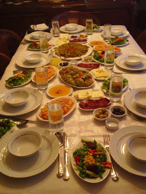 Dining Table With Food Dining Table Turkish Food