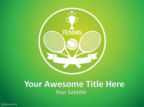 Free Tennis Tournament Powerpoint Template Download Free Powerpoint Ppt Tennis Powerpoint Template