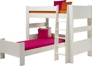 tom pine l shape high sleeper guest bed
