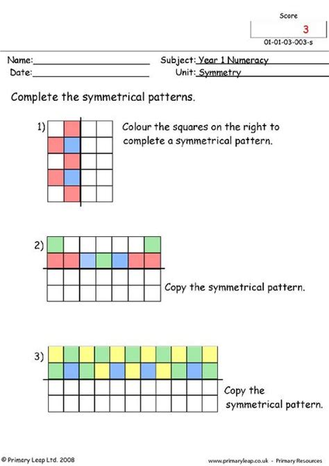 symmetrical patterns worksheet year 2 free worksheets 187 pattern symmetry worksheets free math