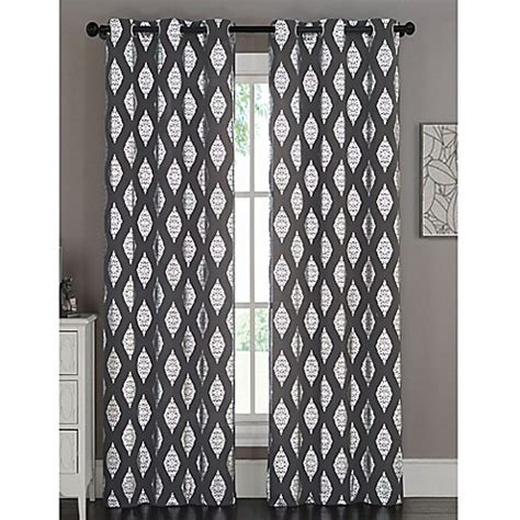 charcoal grey curtain panels buy marquis 84 inch grommet top window curtain panel pair
