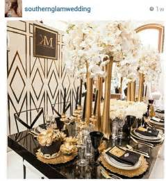 white and gold table decorations dramatic deco inspired tablescape with black and gold