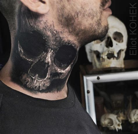 skull neck tattoo designs 3d tattoos ideas part 2
