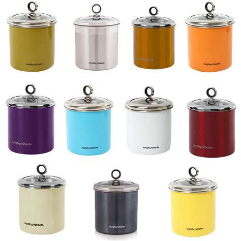 canisters for the kitchen morphy richards 1 7 litre stainless steel large kitchen storage jar canister uk