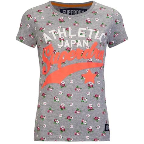Superdry Floral Black With Grey Floral Print Silicone Syl1 superdry s ditsy floral entry t shirt ditsy floral grey marl womens clothing thehut