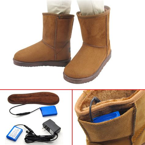mens heated boots mens winter battery heating heated warm ankle snow