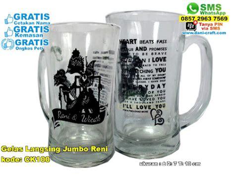 Gelas Minum Jumbo souvenir gelas jumbo bergagang souvenir pernikahan