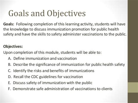 the of the in health safety immunization