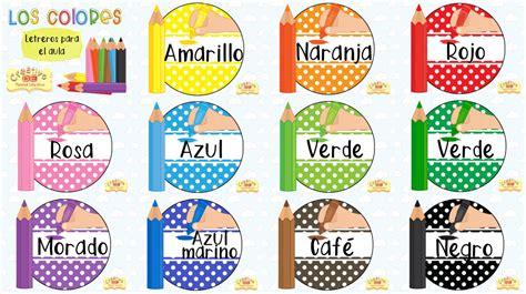 letreros de aulas en colegio espectaculares letreros para el aula de los colores