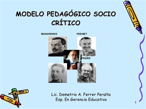 Modelo Curricular Socio Critico Pedagog 237 A Socio Cr 237 Tica