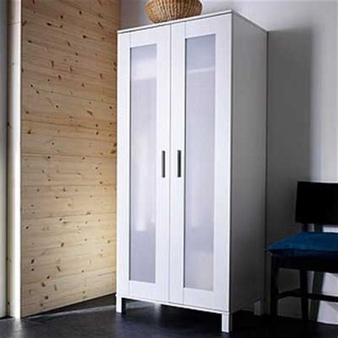 Ikea White Wardrobe Armoire With Adjustable Shelf And Clothes Rail Review Home Best
