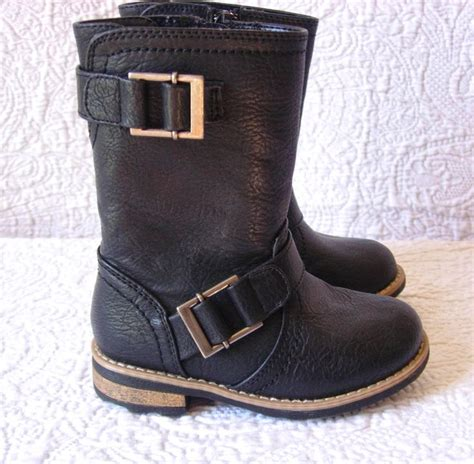 black toddler boots xhilaration toddler s black leather boots boots