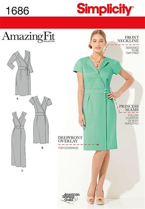 pattern review simplicity amazing fit simplicity 1686 misses miss petite amazing fit dress