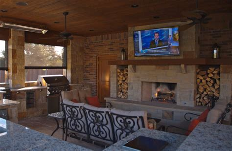 living spaces tv backyard living frisco tx prestige pool and patio