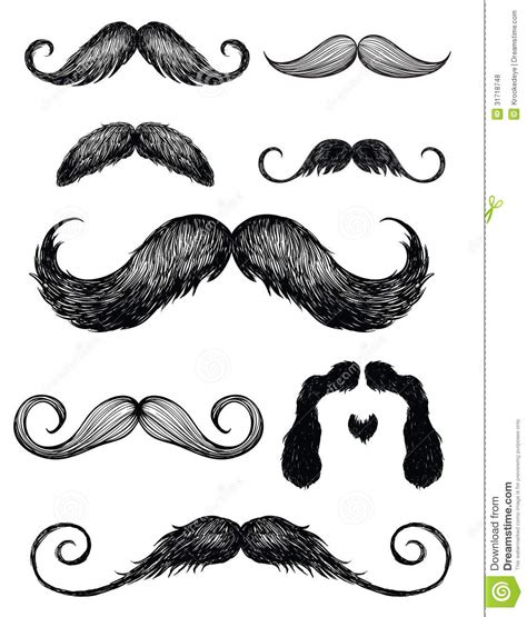 moustache stock images royalty free images vectors mustache set 2 royalty free stock photos image 31718748