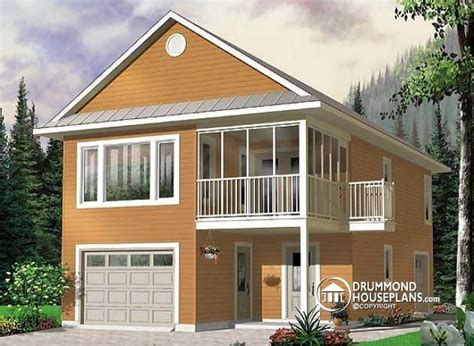 Garage Apartment Plans With Balcony by W2933 Garage With Apartment 2 Bedrooms Open Floor Plan